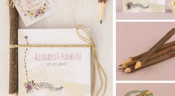 DIY wedding favors in woodland outdoor theme by Real Brides Wedding Essentials