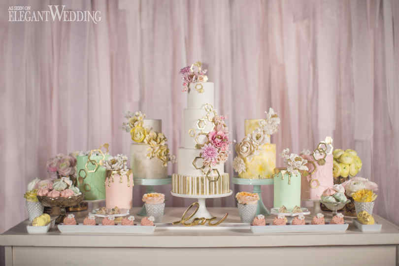 elegant weding magazine - cake table