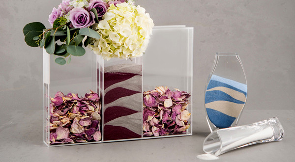 Sand Ceremony vases for wedding